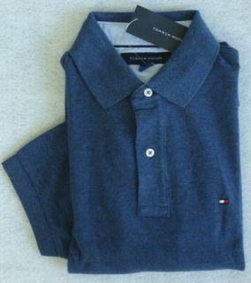 Mens Tommy Hilfiger s s Blue Denim Polo Shirt Size M