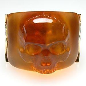 Stephen Webster Ghost Rider Carnelian Skull Mens Ring Heavy Solid 18K