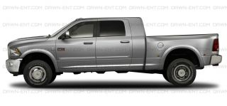 For Dodge RAM Crew Cab Painted Body Side Moulding w Chrome Insert Trim