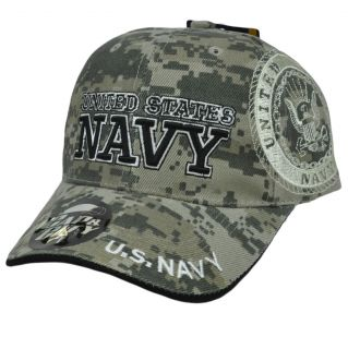 US Navy Military Insignia Seal Digital Camo Camouflage Hat Cap