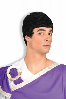 julius caesar wig black greek god mens roman costume accessory short