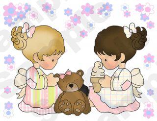 Teddy Bear Doll Pink Baby Nursery Wall Border Stickers Decals