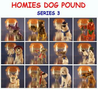 12 New Homies Dog Pound Set 3 Mini Cake Topper Figures
