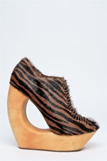 Jeffrey Campbell New Rockin Brown Black Zebra Print