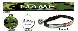 Cute Fun Personalised Pet Dog Name ID Tag Collar