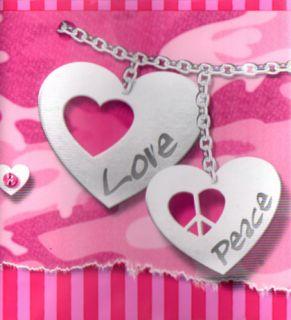 Camo Heart Bracelet Jewel Love Peace Friend Girl Wall Paper Border