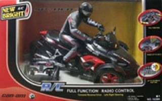 New Bright Can Am Spyder R C Black Red Motorcycle Trike