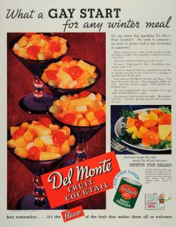 Del Monte Fruit Cocktail Glasses Grapes Canned Food Preserved Cherries