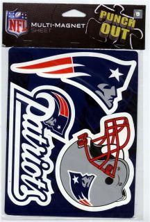 New England Patriots Sheet 3 Car Truck Fridge Magnets