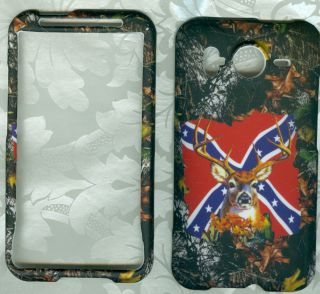 camo rebel flag RUBBERIZED HTC Inspire 4G AT T phone cover protector