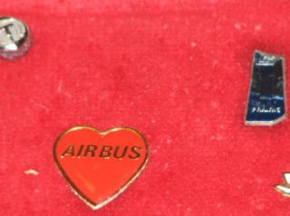 Airplane Lapel Pins On frame T1 airbus Good Year Air Canada Boeing