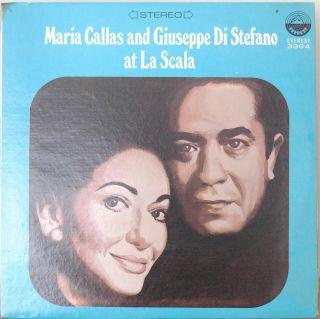 MARIA CALLAS & GIUSEPPE DI STEFANO AT LA SCALA NM1974LP QUAD RENATA