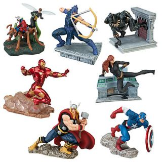 Disney Marvel Universe 7 piece figure play set/cake toppers