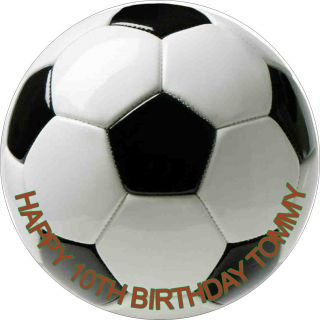 Soccer Football Edible Icing Birthday Cake Toppers