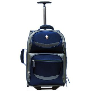 CalPak Discover 19 Inch Deluxe Laptop Rolling Backpack Navy Blue