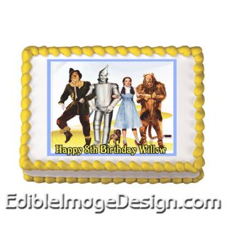 Wizard of oz Edible Birthday Party Cake Image Cupcake Topper Favors