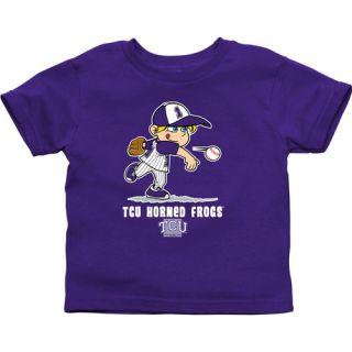 TCU Horned Frogs Infant Boys Baseball T Shirt Purple