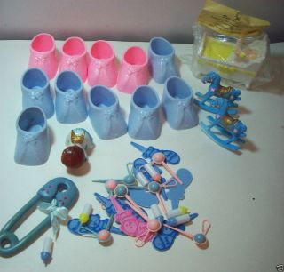 Wilton + cake cupcake decorating supplies pink/blue baby shoes picks