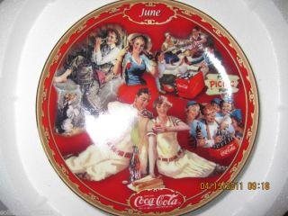 Bradford Exchange Coca Cola Days June Calendar Collectors Plate