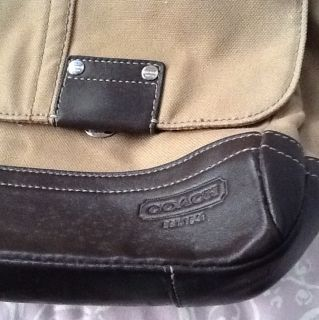 Coach Camden Leather Canvas Messenger Bag F70427