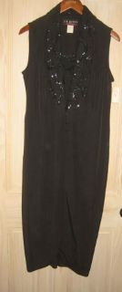 New with Tag Sexy Sequin Tuxedo Maxi Dress Lord Taylor Caliendo
