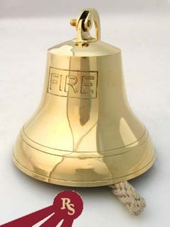 Brass Fire Bell firemen Truck Call Alarm Bells