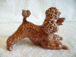Spaghetti Poodle Dog Figurine Jane Callender Calif Art Pottery