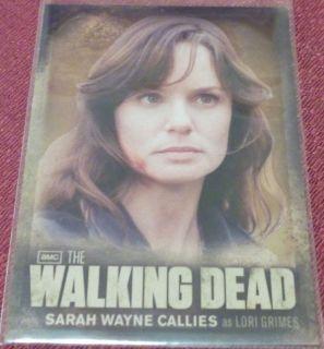 Walking Dead Season 2 CB02 SARAH WAYNE CALLIES As LORI GRIMES Foil Bio