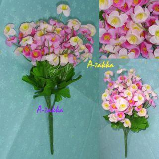 Garden Wedding Decoration Artificial Silk Flower Mini Campanula Pink