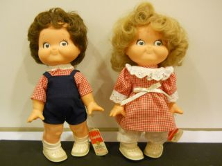 1988 CAMPBELLS SOUP SPECIAL EDITION KID DOLLS BOY GIRL KIDS PAIR