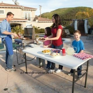 Folding Picnic Tailgating Camping Event Table w HD Grill Rack