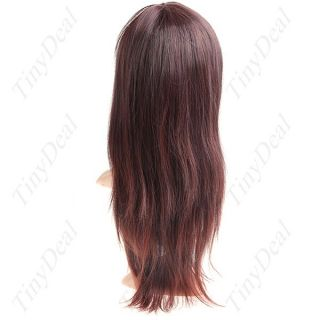 Capless Long Synthetic Straight Wig Fake Hair HHP 15192