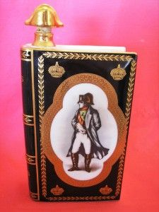 camus napoleon limoges book cognac black bottle 0107