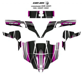 Can Am Commander 800R 1000x Graphic Decal Kit 5600 Hot Pink