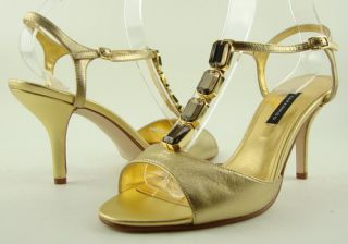 Caparros Hudson Gold Evening Womens Shoes Sandals 8 5