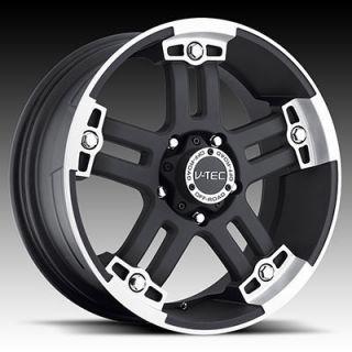 Black Wheels Rims 6x5 5 6 Lug Chevy Chevrolet GM Nissan Truck