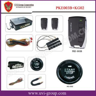 Complete Car Passive Keyless Entry Security Alarm System Button Start