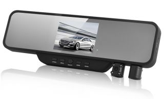 LCD Dual Lens Car Camera Vehicle Recorder Rearview Mirror DVR