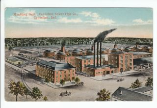 Cannelton Sewer Pipe Co Factory Indiana in Old Postcard Perry County