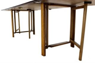 Danish Mid Century Modern Drop Leaf Dining Banket Table