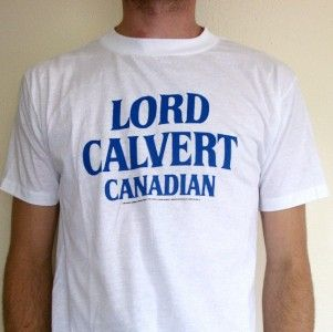 Vtg Lord Calvert Canadian T Shirt Retro Punk Emo 80s
