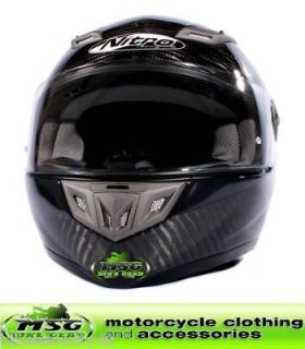 Nitro EVO Carbon Gunmetal FF Motorcycle Helmet Medium