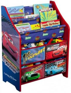 New Disney Cars Kids Childrens Book Rack and Toy Multi Organizer Box