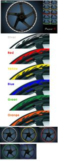 Tuning Flame Color Reflective Stickers Silver Red Yellow Blue Green