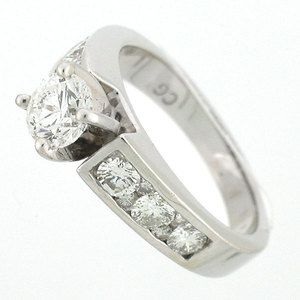 14k Solid White Gold Diamond Solitaire Engagement Ring 1 60 Carats
