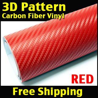12 x 50 3D Twill Weave Carbon Fiber Vinyl Wrap Sheet 31cm x 127cm