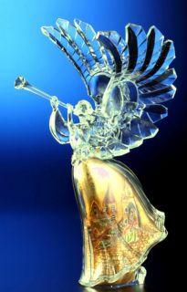 Angel + Nativity Sculpture Crystal like Clear Acrylic MIB