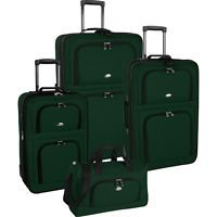 Pierre Cardin Expandable Green 4pc Luggage Set $200
