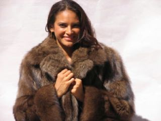 Gorgeous Canadian Fisher Fur Coat Furs Size10 19042