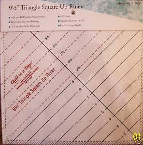 TRIANGLE SQUARE UP RULER QUILT IN A DAY CLEAR LINES EASY TO USE